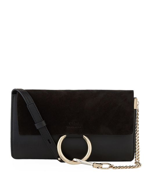 Chloé | Black Small Faye Shoulder Bag | Lyst