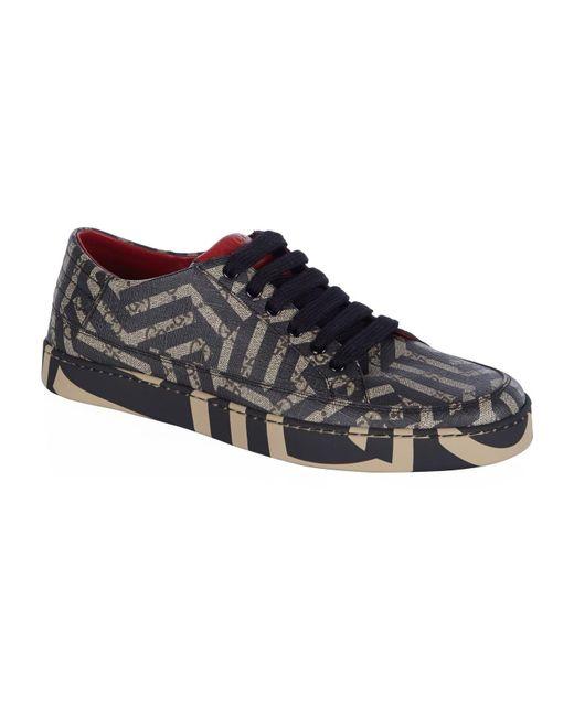 Gucci | Black Common Geometric Sneaker for Men | Lyst