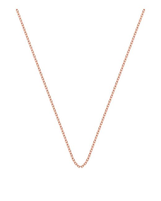 """Monica Vinader   Pink Rolo Chain 24""""/61cm With Adjuster   Lyst"""