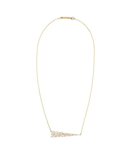 Suzanne Kalan | White Gold Uneven Diamond Baguette Necklace | Lyst