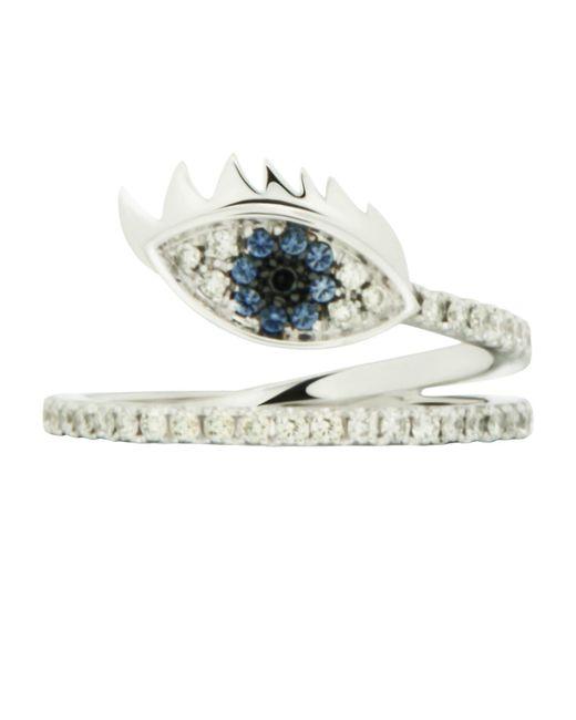Delfina Delettrez | Blue Marry Me Eye White Gold Ring | Lyst