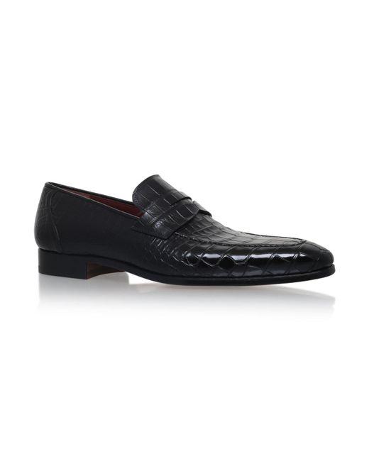 Magnanni Shoes | Black Crocodile Skin Loafer for Men | Lyst