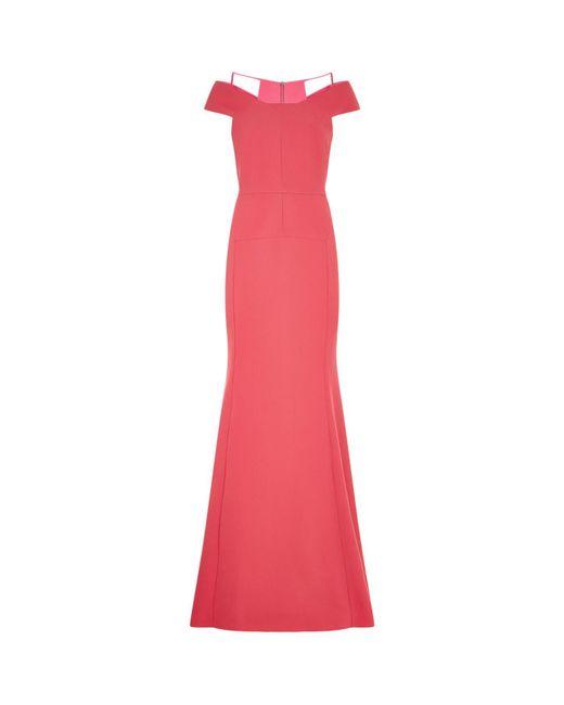Roland Mouret   Pink Off Shoulder Gown   Lyst