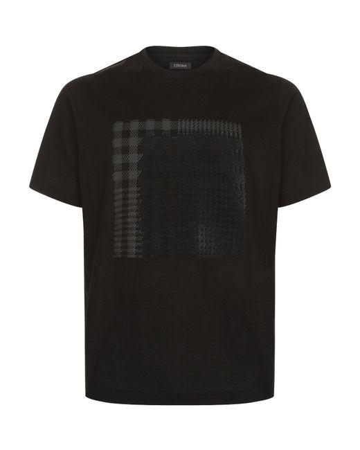 Z Zegna   Black Velvet Applique T-shirt for Men   Lyst