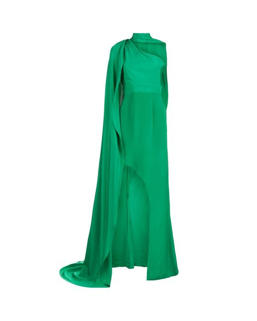 La Mania | Green Enneye One Shoulder Gown | Lyst