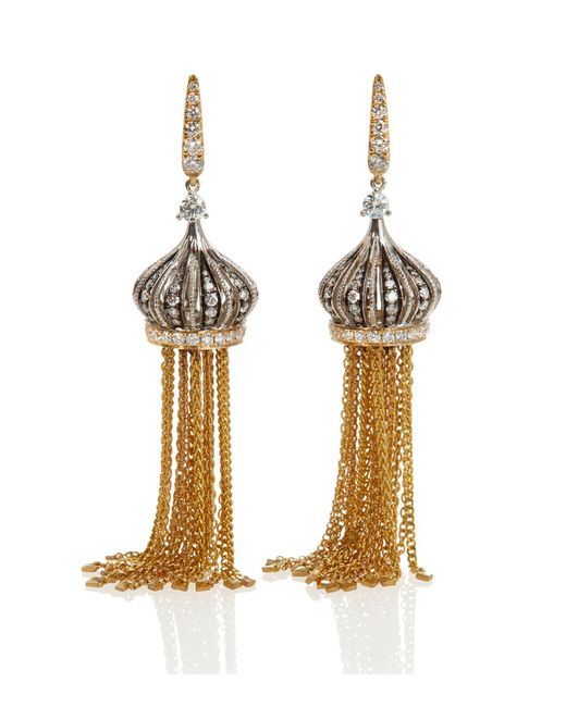 Annoushka | Metallic Touch Wood Tassel Earrings | Lyst
