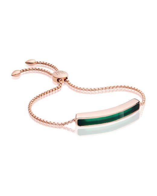 Monica Vinader - Green Baja Chain Bracelet - Lyst