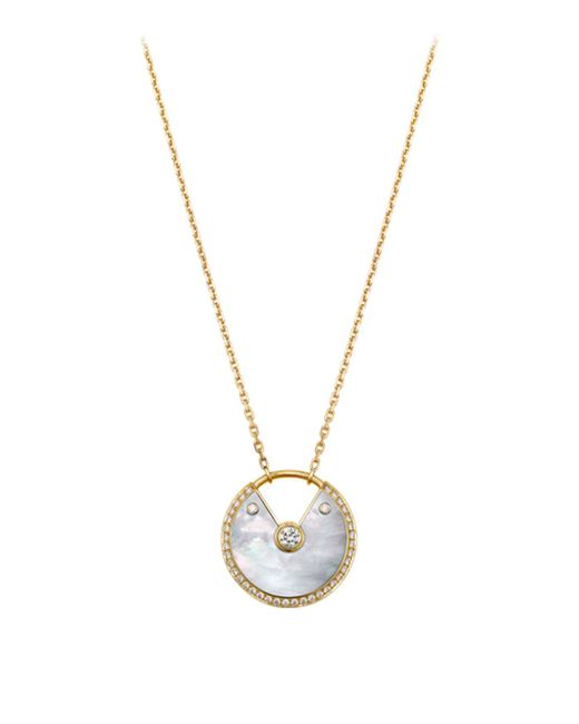 Cartier - Metallic Medium Yellow Gold And Mother-of-pearl Amulette De Necklace - Lyst