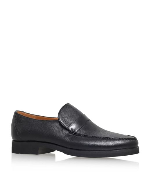 Stemar | Black Leather Wide Fit Loafer for Men | Lyst