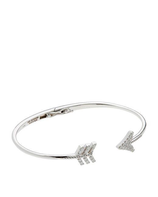 Bee Goddess | Metallic Diamond Eros Arrow Bangle | Lyst