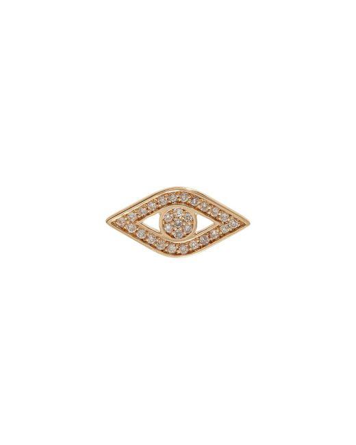 Sydney Evan   White Yellow Gold And Diamond Evil Eye Stud Earring   Lyst
