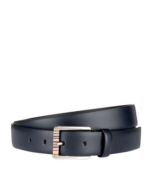 Paul Smith | Blue Striped Buckle Belt | Lyst