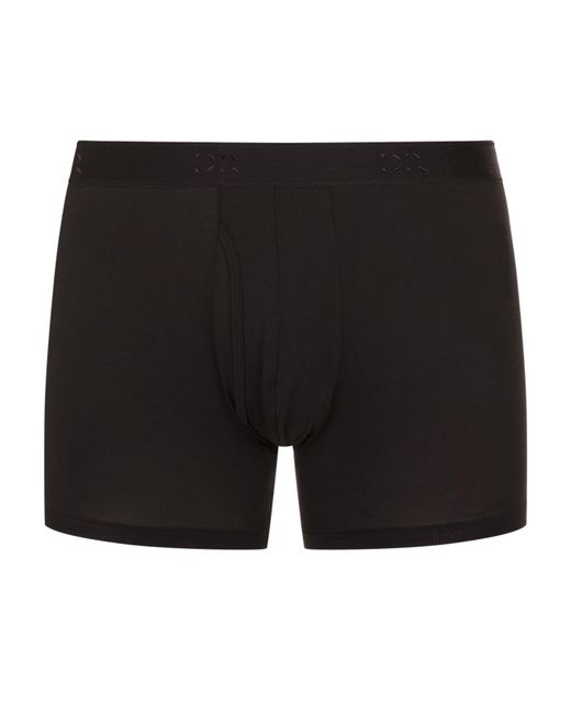 Derek Rose - Black Pima Cotton Stretch Open Trunks for Men - Lyst