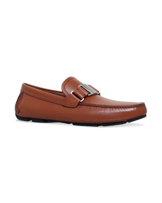 Ferragamo - Natural Leather Sardenga Driving Shoes for Men - Lyst