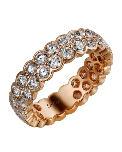 Cartier - Metallic Pink Gold And Diamond Coup D'clat De Ring - Lyst