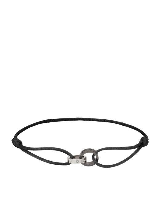 Cartier - Metallic White Gold Love Cord Bracelet - Lyst