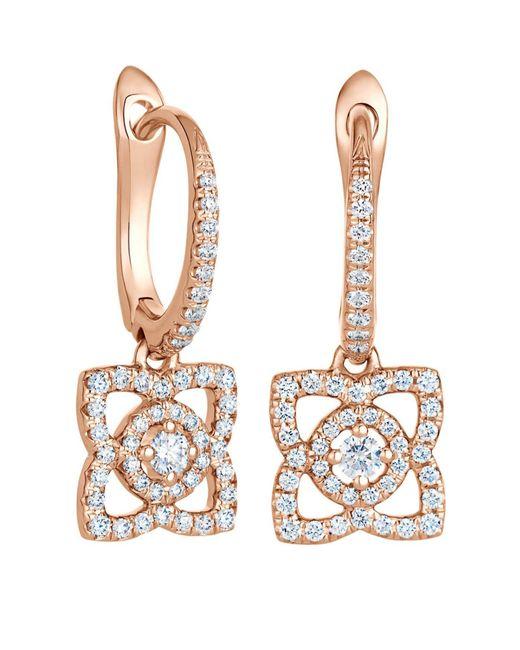 De Beers - Metallic Rose Gold Enchanted Lotus Sleeper Earrings - Lyst