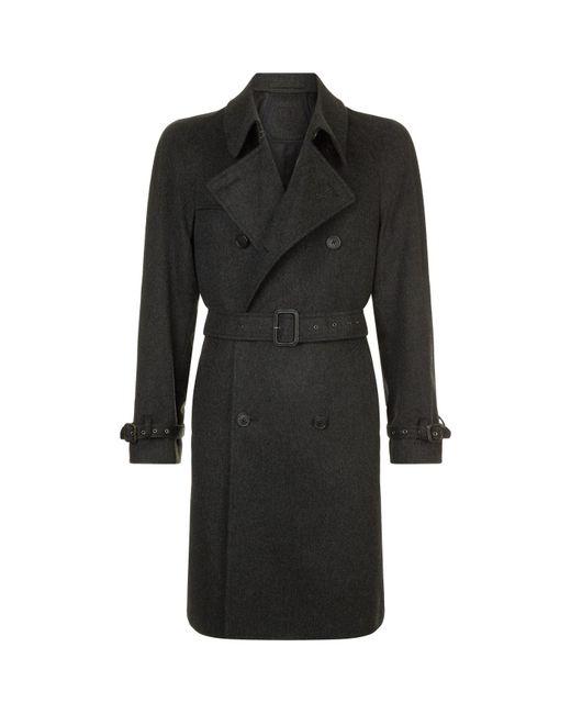 Corneliani - Gray Cashmere Trench Coat for Men - Lyst