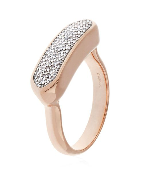 Monica Vinader | Pink Baja Diamond Ring | Lyst