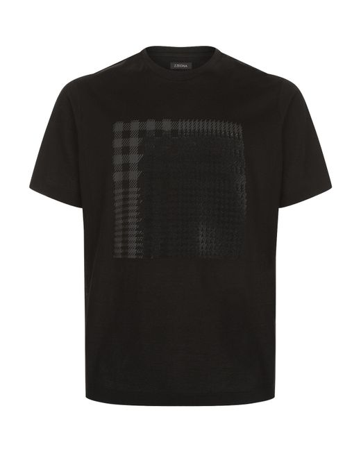 Z Zegna | Black Velvet Applique T-shirt for Men | Lyst