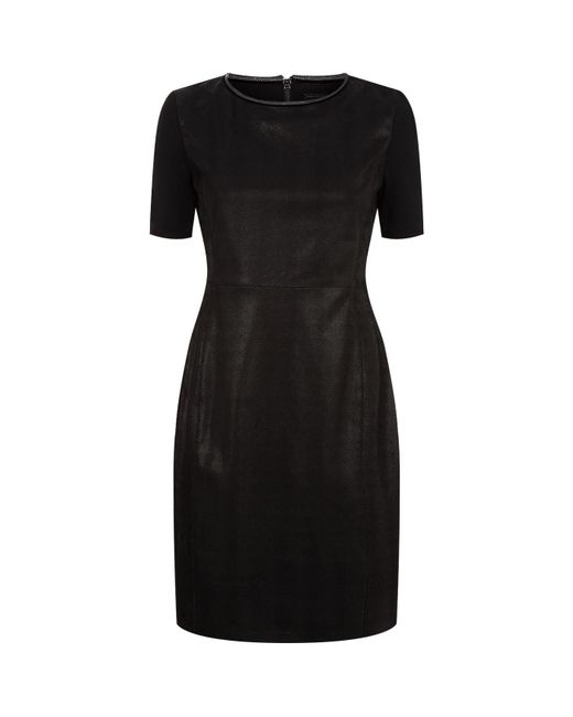 Elie Tahari | Black Emily Leather Dress | Lyst