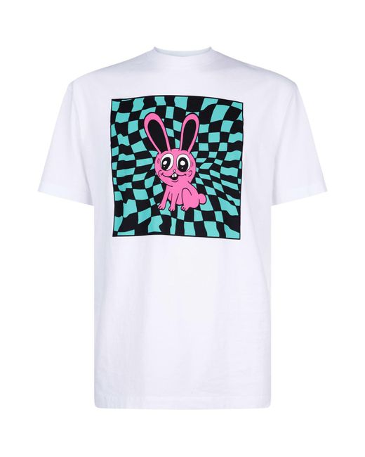 McQ Alexander McQueen - White Bunny Print T-shirt for Men - Lyst