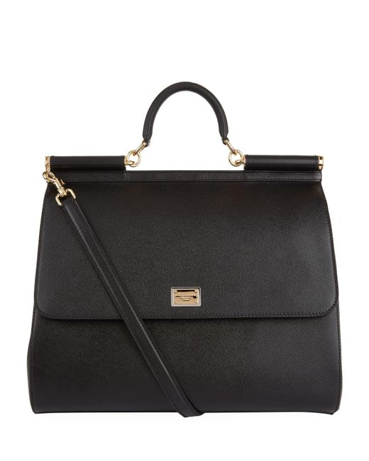 407a3b9d1ce8 Lyst - Dolce   Gabbana Giant Sicily Top Handle Bag in Black