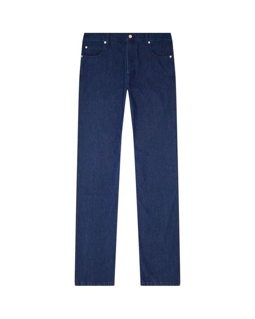 A.P.C. - Blue Straight Leg Jeans for Men - Lyst