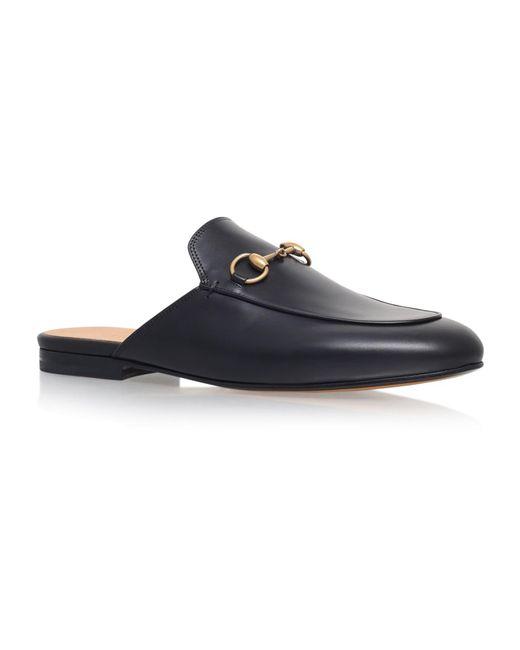 e2c94cc6c Gucci Princetown Leather Slipper in Black - Save 23% - Lyst