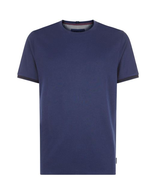Ted Baker | Blue Nanmoon Flat Knit T-shirt for Men | Lyst