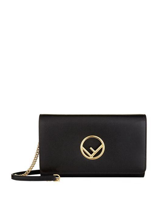 Fendi - Black Logo Shoulder Bag - Lyst