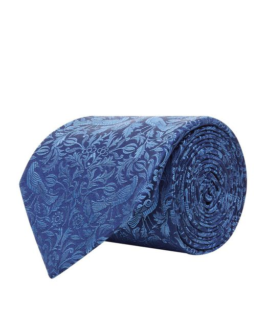 Turnbull & Asser - Blue Nature Pattern Silk Tie for Men - Lyst