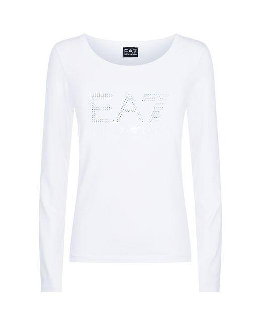 Armani - White Logo T-shirt - Lyst