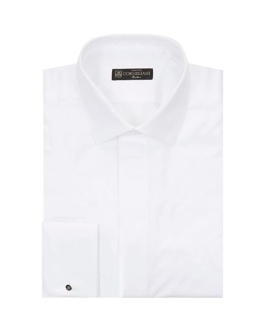 Corneliani | White Cotton Piqu Shirt for Men | Lyst