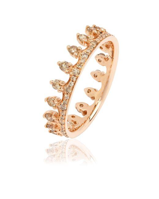 Annoushka - Metallic Brown Diamond Rose Gold Crown Ring - Lyst