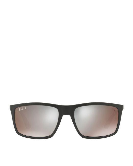 f075ab726cd6e Lyst - Ray-Ban Scuderia Ferrari Collection Square Sunglasses in ...