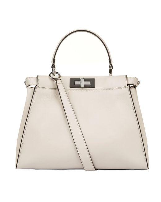 Fendi | Natural Peekaboo Shoulder Bag | Lyst