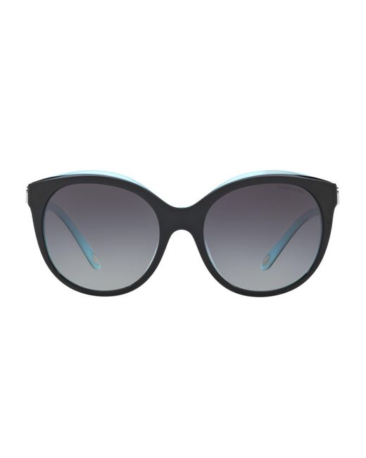 Tiffany & Co - Black Love Round Sunglasses - Lyst