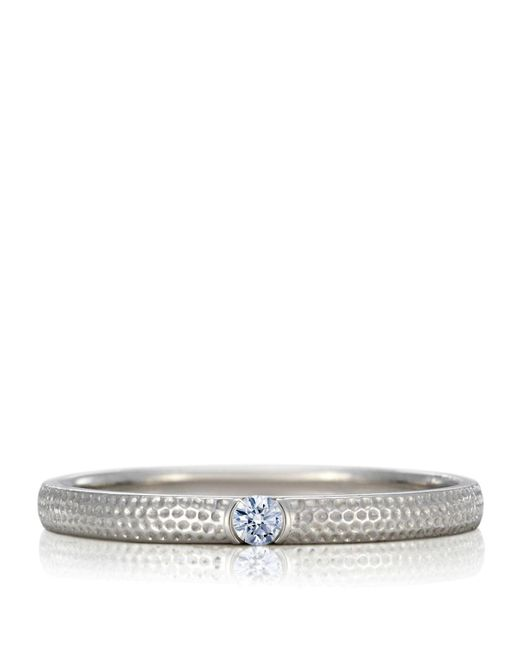 De Beers | Metallic White Gold And Diamond Azulea Ring | Lyst