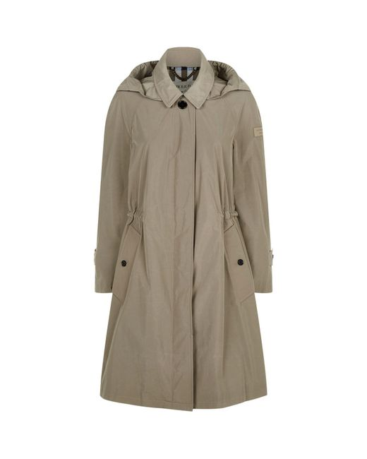 Burberry   Natural Tringford Hooded Trench Coat   Lyst