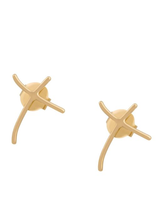 Stephen Webster - Metallic Yellow Gold And Diamond I Promise To Love You Studearrings - Lyst
