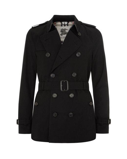 Burberry - Black Kensington Short Heritage Trench Coat for Men - Lyst