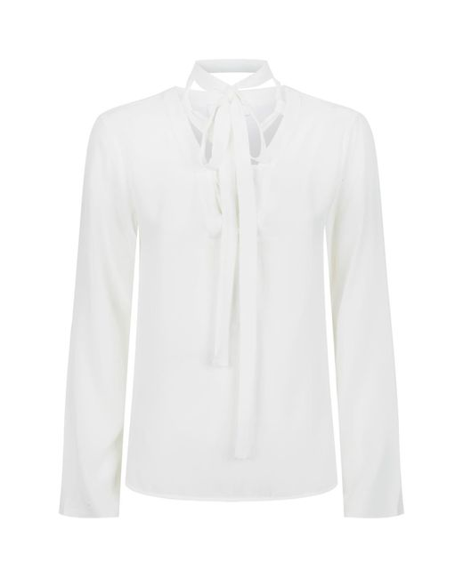 Sandro | Natural Lace-up Top | Lyst