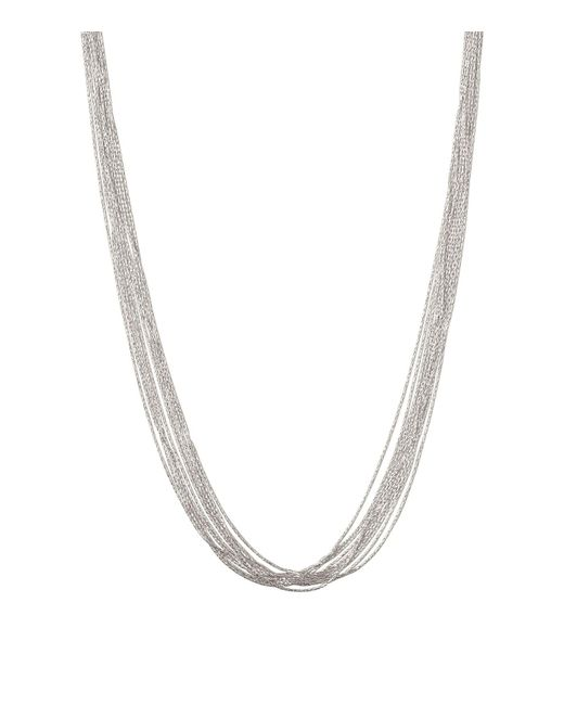 Links of London - Metallic Sterling Silver Essentials Silk 10 Row Necklace - Lyst