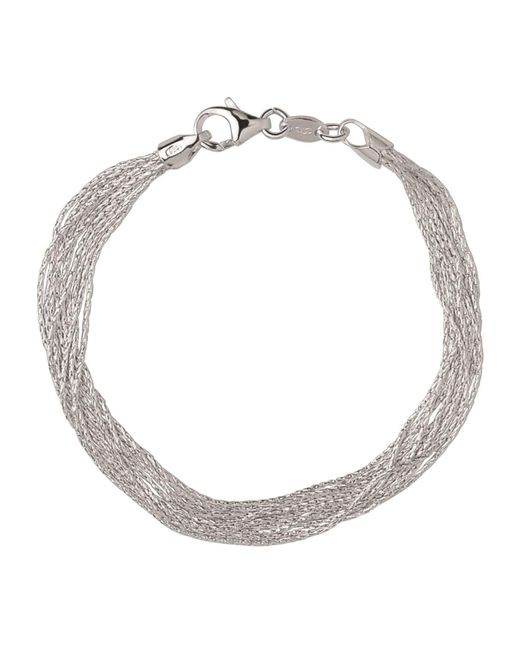 Links of London - Metallic Sterling Silver Essentials Silk 10 Row Bracelet - Lyst