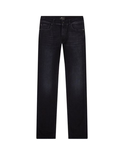 7 For All Mankind - Black Ronnie Skinny Luxe Performance Jeans for Men - Lyst