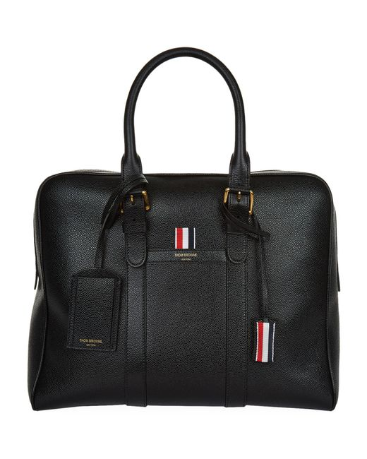 Thom Browne   Black Small Leather Holdall for Men   Lyst