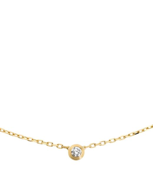 Cartier - Metallic Small Yellow Gold Diamants Lgers Necklace - Lyst