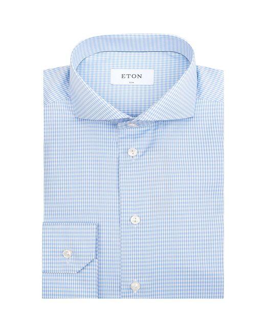 Eton of Sweden | Blue Blurred Check Formal Shirt for Men | Lyst