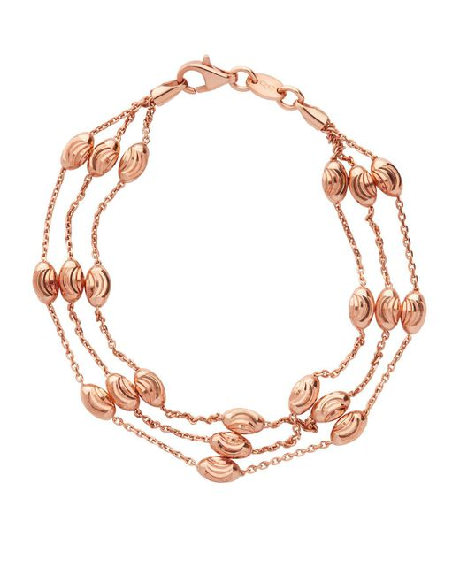 Links of London | Metallic Beaded 2 Row Chain Bracelet | Lyst